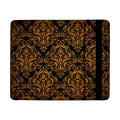 Damask1 Black Marble & Yellow Grunge (r) Samsung Galaxy Tab Pro 8 4  Flip Case