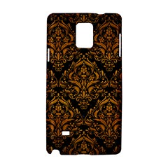 Damask1 Black Marble & Yellow Grunge (r) Samsung Galaxy Note 4 Hardshell Case