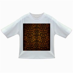 Damask2 Black Marble & Yellow Grunge Infant/toddler T Shirts