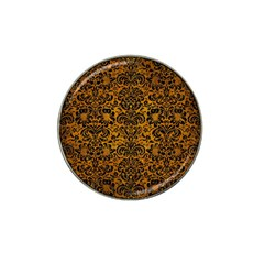 Damask2 Black Marble & Yellow Grunge Hat Clip Ball Marker (10 Pack)