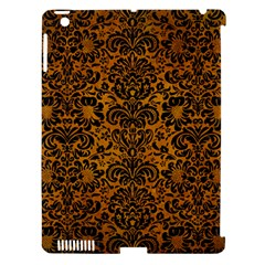 Damask2 Black Marble & Yellow Grunge Apple Ipad 3/4 Hardshell Case (compatible With Smart Cover)