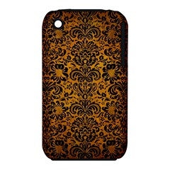 Damask2 Black Marble & Yellow Grunge Iphone 3s/3gs