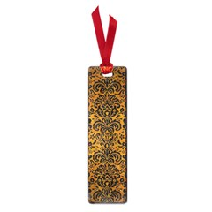 Damask2 Black Marble & Yellow Grunge Small Book Marks