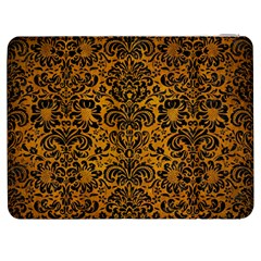 Damask2 Black Marble & Yellow Grunge Samsung Galaxy Tab 7  P1000 Flip Case
