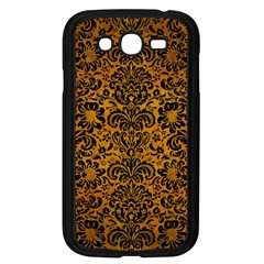 Damask2 Black Marble & Yellow Grunge Samsung Galaxy Grand Duos I9082 Case (black)