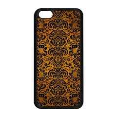 Damask2 Black Marble & Yellow Grunge Apple Iphone 5c Seamless Case (black)