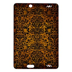 Damask2 Black Marble & Yellow Grunge Amazon Kindle Fire Hd (2013) Hardshell Case