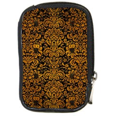 Damask2 Black Marble & Yellow Grunge (r) Compact Camera Cases