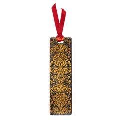 Damask2 Black Marble & Yellow Grunge (r) Small Book Marks