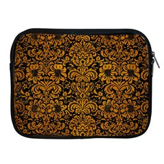 Damask2 Black Marble & Yellow Grunge (r) Apple Ipad 2/3/4 Zipper Cases