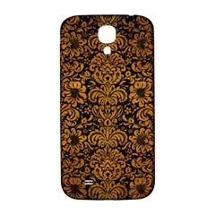 Damask2 Black Marble & Yellow Grunge (r) Samsung Galaxy S4 I9500/i9505  Hardshell Back Case