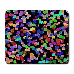 Colorful Paint Strokes On A Black Background                                Large Mousepad