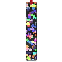Colorful Paint Strokes On A Black Background                                Large Book Mark