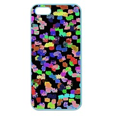 Colorful Paint Strokes On A Black Background                          Apple Seamless Iphone 5 Case (clear)