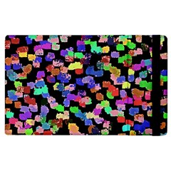 Colorful Paint Strokes On A Black Background                          Apple Ipad 2 Flip Case