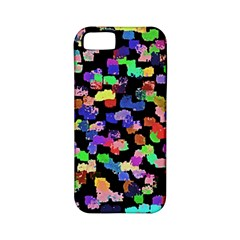 Colorful Paint Strokes On A Black Background                          Apple Iphone 4/4s Hardshell Case (pc+silicone)