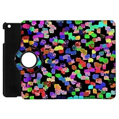 Colorful Paint Strokes On A Black Background                          Apple Ipad 3/4 Flip 360 Case