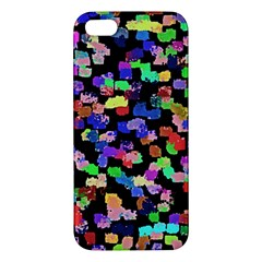 Colorful Paint Strokes On A Black Background                          Apple Ipod Touch 5 Hardshell Case With Stand