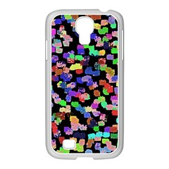 Colorful Paint Strokes On A Black Background                          Samsung Galaxy Note 2 Case (white)