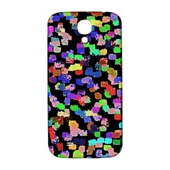 Colorful Paint Strokes On A Black Background                          Samsung Note 2 N7100 Hardshell Back Case