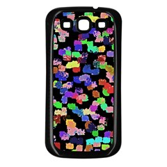 Colorful Paint Strokes On A Black Background                          Samsung Galaxy S3 Back Case (white)