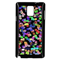 Colorful Paint Strokes On A Black Background                          Samsung Galaxy Note 4 Case (color)