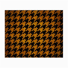 Houndstooth1 Black Marble & Yellow Grunge Small Glasses Cloth