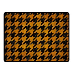 Houndstooth1 Black Marble & Yellow Grunge Fleece Blanket (small)