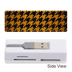 Houndstooth1 Black Marble & Yellow Grunge Memory Card Reader (stick)