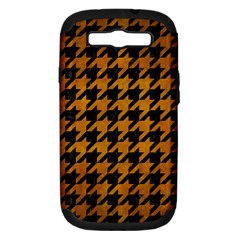 Houndstooth1 Black Marble & Yellow Grunge Samsung Galaxy S Iii Hardshell Case (pc+silicone)