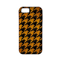 Houndstooth1 Black Marble & Yellow Grunge Apple Iphone 5 Classic Hardshell Case (pc+silicone)