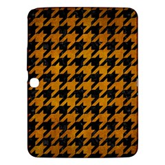 Houndstooth1 Black Marble & Yellow Grunge Samsung Galaxy Tab 3 (10 1 ) P5200 Hardshell Case