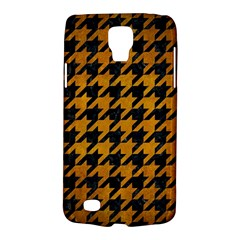 Houndstooth1 Black Marble & Yellow Grunge Galaxy S4 Active