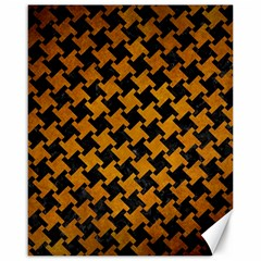 Houndstooth2 Black Marble & Yellow Grunge Canvas 16  X 20