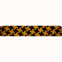 Houndstooth2 Black Marble & Yellow Grunge Small Bar Mats