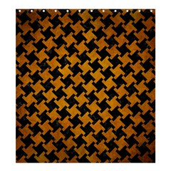 Houndstooth2 Black Marble & Yellow Grunge Shower Curtain 66  X 72  (large)