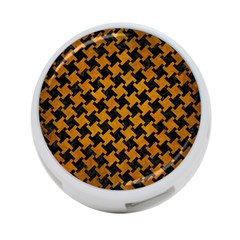 Houndstooth2 Black Marble & Yellow Grunge 4 Port Usb Hub (one Side)