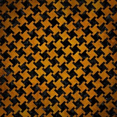Houndstooth2 Black Marble & Yellow Grunge Magic Photo Cubes