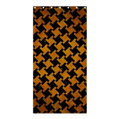 Houndstooth2 Black Marble & Yellow Grunge Shower Curtain 36  X 72  (stall)