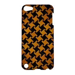 Houndstooth2 Black Marble & Yellow Grunge Apple Ipod Touch 5 Hardshell Case