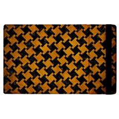 Houndstooth2 Black Marble & Yellow Grunge Apple Ipad 3/4 Flip Case