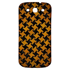 Houndstooth2 Black Marble & Yellow Grunge Samsung Galaxy S3 S Iii Classic Hardshell Back Case