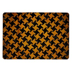 Houndstooth2 Black Marble & Yellow Grunge Samsung Galaxy Tab 10 1  P7500 Flip Case