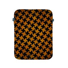 Houndstooth2 Black Marble & Yellow Grunge Apple Ipad 2/3/4 Protective Soft Cases