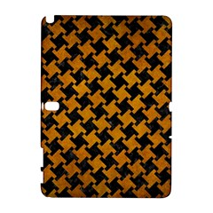 Houndstooth2 Black Marble & Yellow Grunge Galaxy Note 1