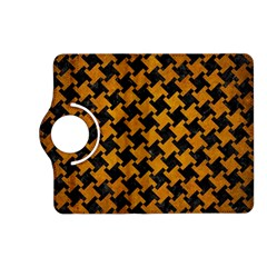 Houndstooth2 Black Marble & Yellow Grunge Kindle Fire Hd (2013) Flip 360 Case