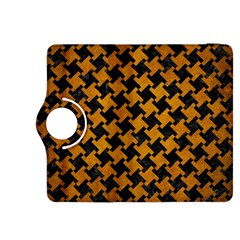 Houndstooth2 Black Marble & Yellow Grunge Kindle Fire Hdx 8 9  Flip 360 Case