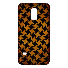 Houndstooth2 Black Marble & Yellow Grunge Galaxy S5 Mini