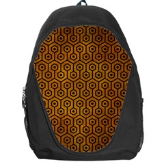 Hexagon1 Black Marble & Yellow Grunge Backpack Bag
