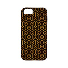 Hexagon1 Black Marble & Yellow Grunge (r) Apple Iphone 5 Classic Hardshell Case (pc+silicone)
